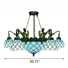 mermaid stained glass chandelier