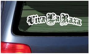 Viva La Raza Latino Pride Car Window Fun Sticker Latin Mexican Hispanic Orgullo Ebay