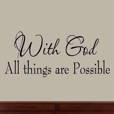 god all things are possible faith wall decals religious
