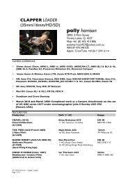 Polly Harrison Camera Op CV March11 - CrewTube
