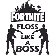Fortnite Video Game Floss Like A Boss Customized Wall Decal Custom Vinyl Wall Art Personalized Name