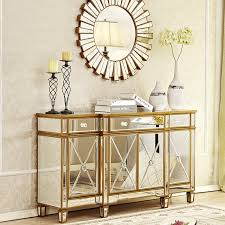 mirror glamour gold console cabinet
