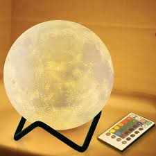 Amazon Com Renook 3 15 Moon Lamp For Kids With Metal Stand Timer Remote Control 16 Colors 5 Brightness Night Light Home Improvement