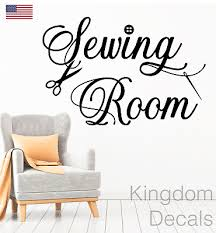 Sewing Room Decal Craft Room Decal Sewing Sign Seamstress Sewing Wall Sticker 11 25 Picclick