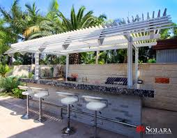 gazebo bar louvered roof system