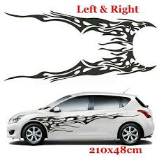 1 Pair Graphics Decals Diy Stickers Flame Fire Totem Car Side Body Accessories Ebay In 2020 Car Sticker Design Car Graphics Decals Car Decals Vinyl