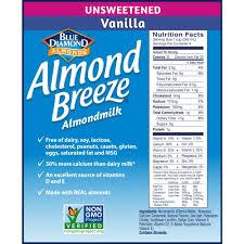 almond breeze almondmilk unsweetened