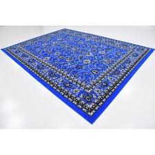 essehoul bright blue area rug