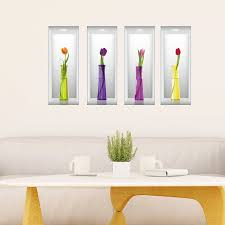 Ebern Designs Tulips In Vases Wall Decal Wayfair