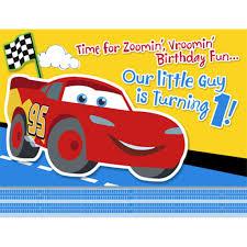 Disney 1st Birthday Cars Invitations Disney Cars Birthday Cars