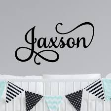 Personalized Wall Decal Boy Name Wall Decal Nursery Wall Decal Etsy Personalized Wall Decals Name Wall Decals Nursery Wall Decals
