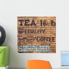 Old Tea Sign Wall Decal Wallmonkeys Com