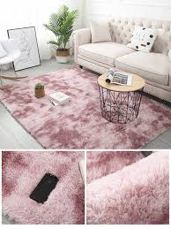 Mega Deal 14729 Pink Carpet Living Room Decoration With Fluffy Square Rug Faux Fur Rug Children S Room Bedroom Plush Rug Furry Rug Modern Mat Cicig Co