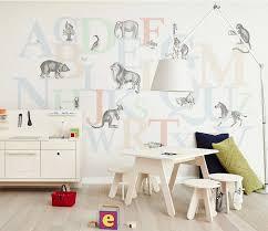 Forest Animals Giraffe Lion Monkey Wall Stickers For Kids Room Wall Decal 3d Cartoon Wall Mural Wallpaper Bedroom Decor Poster Wallpapers Aliexpress