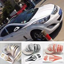 12mm Double Line Car Stickers Pin Stripe Car Body Striping Tape Vinyl Decal Pinstripe Streamline Gold Silver Blue Green Red Whi Car Stickers Aliexpress