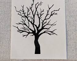 Bare Tree Decal Etsy