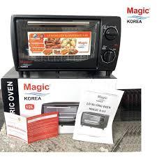 Lò Nướng Điện Đa Năng Magic Korea Dung Tích 12 Lít Nướng Nguyên Con Gà Quay  Rã Đông Có Khay Nướng và Hứng Dầu