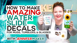 Make Amazing Waterslide Decals For Tumblers Mugs And Glasses Youtube