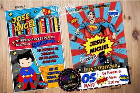 Invitacion Digital Para Whatsapp Superman 150 00 En Mercado Libre