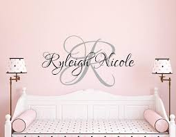 Amazon Com Best Design Amazing Personalized Name Decal Custom Wall Decal Nursery Decor Baby Wall Decal Name Wall Decal Nursery Wall Art Personalized Wall Decal N401 Made In Usa Home Kitchen