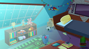 Boys Bedroom Interior At Night Time Kids Room Stock Illustration Download Image Now Istock