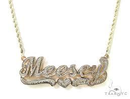 name necklace las gold gold 10k