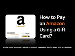 how to pay on amazon using a gift card