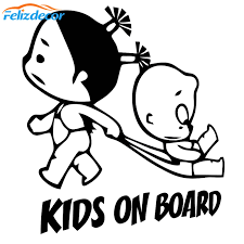 15 17 Kids On Board Decal Car Decor Childrens Baby Girls Vinyl Stickers Funny Decals Bumper Car Auto Art Decor Sign L1013 Car Stickers Aliexpress