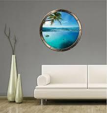 24 Porthole Sea Window Tropical Split Shot 1 Round Wall Sticker Decal Graphic Ebay