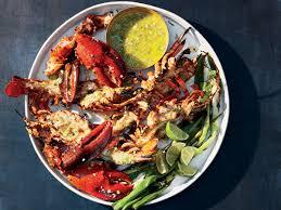 Jerk-Grilled Lobster Recipe - Gail ...