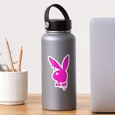 Hot Pink Drip Playboy Bunny Sticker By Designedsyddd Redbubble