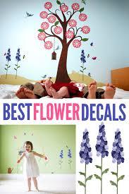 Splendid Flower Garden Wall Decal Sticker Kit Jumbo Set Flower Room Floral Baby Nursery Wall Decals