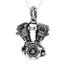 Felix Perry SSNP-001 Men's Necklace Stainless Steel Motorcycle Engine  Pendant | Wish