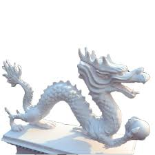 large chinese stone dragon garden