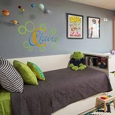 Amazon Com Name Wall Decal Childrens Wall Sticker Retro Circles Girl Name Decal Personalized Name Decor Custom Name Decal Kid Room Art Decoration Home Kitchen