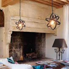 strap globe pendant light with without