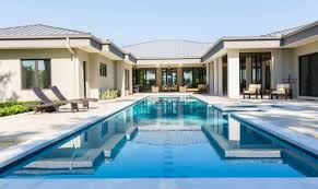 adobe modern home plans courtyard pools
