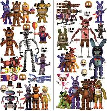 Five Nights At Freddy S Wall Sticker Fnaf Decal Stickers Etsy