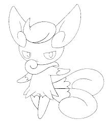 Kleurplaat Pokemon Vrouwelijke Vorm 678 Meowstic Vrouwelijke