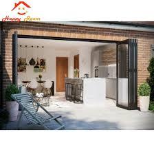 aluminium exterior bifold door with 5mm