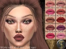 matte lipstick 07 sims 4 mod
