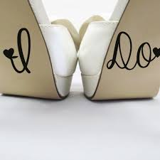 I Do Wedding Shoes Sticker Removeable Vinyl Decal Personalised Wedding Decoration Accessories Lovely Stickers G634 Wall Stickers Aliexpress