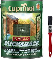 New 2020 Cuprinol Ducksback Shed Fence Paint 5 Litre Forest Green Non Drip Water Repellent And Frost Defence Protection For 5 Years Includes Psp Touch Up Brush Amazon Co Uk Diy Tools