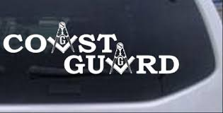 Coast Guard Masonic Freemason Car Or Truck Window Laptop Decal Sticker Ebay