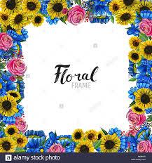 Acuarela Fondo Floral Borde De Flores Pintados A Mano Bueno Para