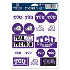 Tcu Horned Frogs Vinyl Sticker Sheet 17 Decals 5x7 Inches Hub City Sports