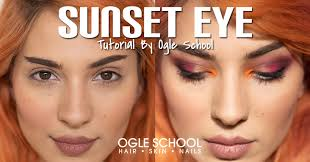 sunset eyeshadow step by step makeup