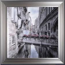 framed wall art with silver frame