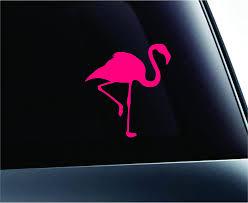 Amazon Com Expressdecor Car Flamingo Silhouette Symbol Decal Funny Car Truck Sticker Window Pink Automotive