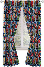 Amazon Com Jay Franco Marvel Avengers Team 84 Inch Drapes 4 Piece Set Beautiful Room Decor Easy Set Up Window Curtains Include 2 Panels 2 Tiebacks Official Marvel Product Home Kitchen
